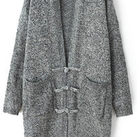 Long Sleeve Cardigan in Black or Grey