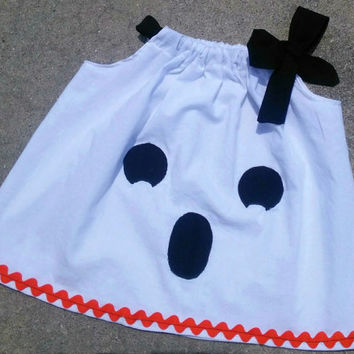 Ghost Pillowcase Dress Halloween Fall Baby Toddler Girls Costume