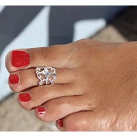 Crown Royalty Adjustable Toe Ring