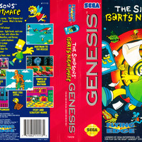 The Simpsons Bart's Nightmare - Sega Genesis (Ugly Game Only)