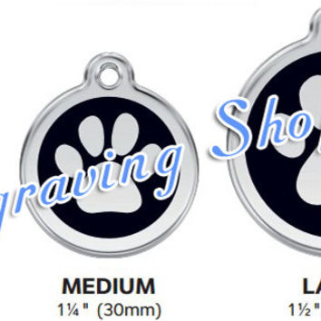 Star Enamel and Stainless Steel Personalized Custom Pet Tag with LIFETIME GUARANTEE ID Tag Dog Tags and Cat Tags Free Engraving