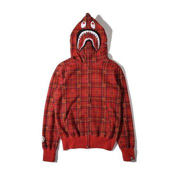 PEAPGZ9 Men's Fashion Winter Plaid Hats Zippers Hoodies Jacket [103815446540]