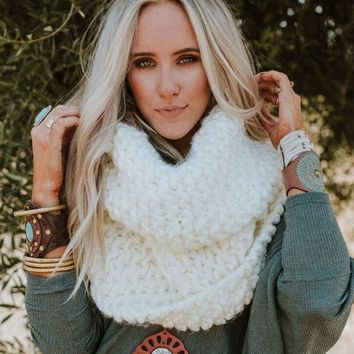 Magical Chunky Wrap Infinity Scarf - Ivory