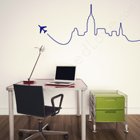 wall decal - Airplane Skyline