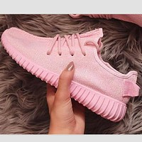 "Yeezy ""Adidas"" Women Boost Sneakers Running Sports Shoes Pink"