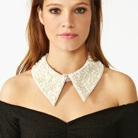 Sequin Collar - Ivory