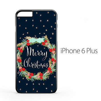Merry Christmas Flower iPhone 6 Plus Case