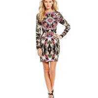 Nicole Miller Artelier Kaleidoscope Camo Stretch Crepe Dress | Dillards