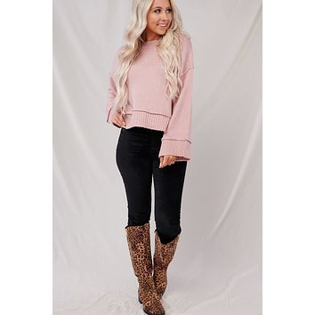 Bring It Back Sweater (Dusty Pink)