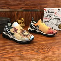 Dolce & Gabbana D&G Stretch Mesh Sorrento Sneakers With Bird Of Paradise Print - Best Online Sale