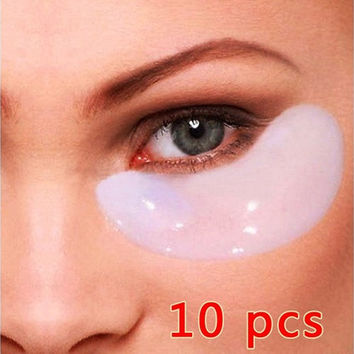 Popular 10Pair Collagen Eye Mask Sheet Packs Crystal Anti Wrinkles,Dark Circles, Bags