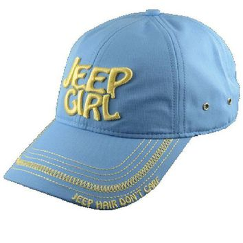 ESBON3F Jeep Girl Light Blue Cap