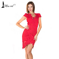 Free shipping 2015 V-neck halter sexy lace stitching dress FT2318