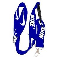 Nike Royal Blue Cell Phone Lanyard Keys ID MP3 Holder Neck Straps