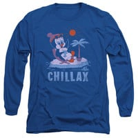 CHILLY WILLY/CHILLAX - L/S ADULT 18/1 - ROYAL - 2X - Royal Blue - 2X