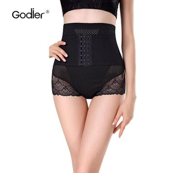 Godier Hot body Shaper Postpartum Control Panties Strap Waist Trainer Corset Slimming Belt Bodysuit Women Corrective Underwear