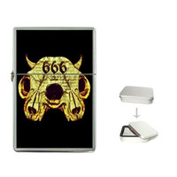Zippo like ShayneoftheDead fliptop lighters, Occult, Sugarskull, Baroque, Flaming Heart