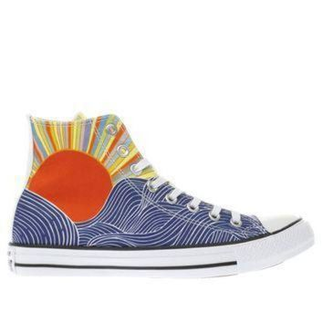 ONETOW converse blue yellow all star mara hoffman hi trainers