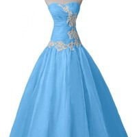 Sunvary 2014 Organza Bridesmaid Dresses Prom Formal Gowns Long