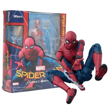 marvel the avengers SHF S.H.Figuarts Spiderman Homecoming spider man hulk joker PVC Action Figure Collectible Model Toy 15cm