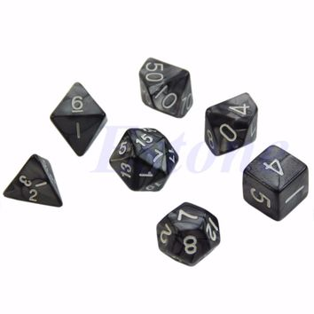 Sided Dice D4 D6 D8 D10 D12 D20 Dungeons&Dragon D&D RPG Poly Game Set of 7 Chess