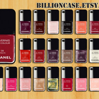 Nail Polish iPhone 5  iPhone 4 Case Samsung Galaxy SIII, 48 Colors iPhone Cover Chanel Case