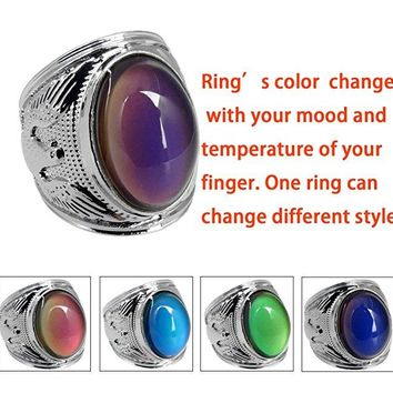 Opal ring Mood Ring Ring Men