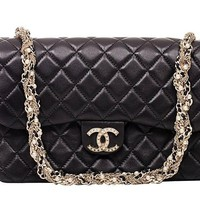 Brown Chanel Black Shoulder Bag