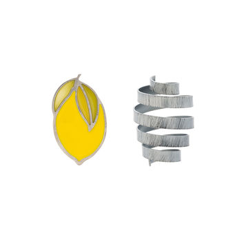 Jacquemus Yellow and Grey Citron Spring Earrings - ShopBAZAAR