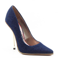 Luichiny Shoes Mind Blowing Stiletto Heel Denim Pumps