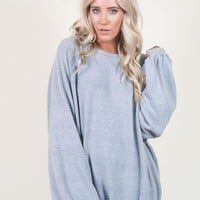 Ultra Soft Oversized Sweatshirt - Blue