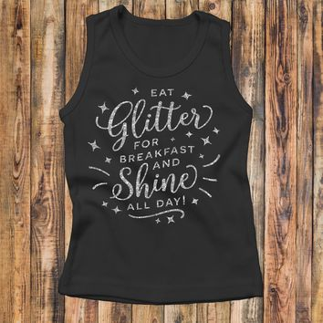 Eat Glitter And Shine All Day - Kid's Tank Top