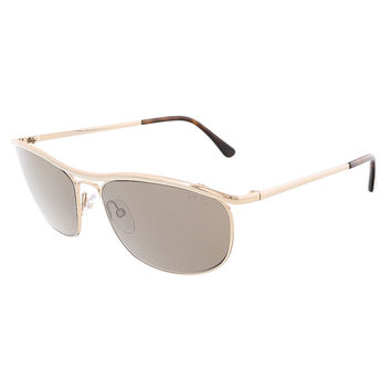 Tom Ford Pale Gold Aviator Sunglasses