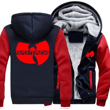 wu tang clan thick hoody mens warm coat autumn winter jacket man new shubuzhi hip hop zipper cotton hoodies euro size