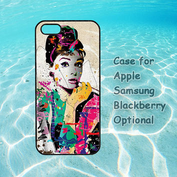 Audrey Hepburn for iphone case 4 4s 5 ipod touch case 4 5 ipod case 4 5 Samsung galaxy case s3 s4 note 2 blackberry case Q10 Z10