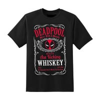 Deadpool Whiskey Marvel Cotton T-shirt