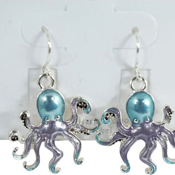 Sea Creature Sea World Octopus Fashion Earrings