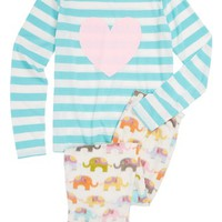 PJ Salvage Elephant Pajamas (Little Girls & Big Girls) | Nordstrom