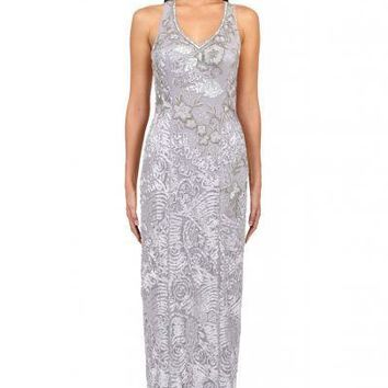 Sue Wong Soutache Embroidered Gown Sleeveless Dress