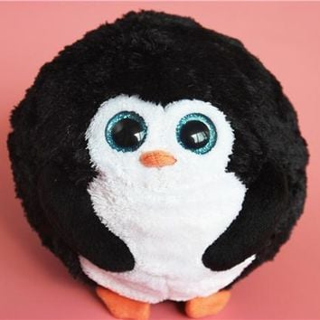 Ty Beanie Boos Round Penguins Cute Stuff Animal Plush Toy Kids Birthday Gift