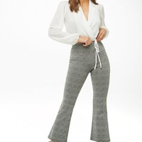 Glen Plaid Flare Pants