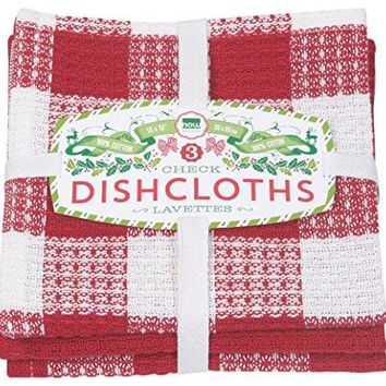Dishcloth Bundle - Holiday Red Check-it