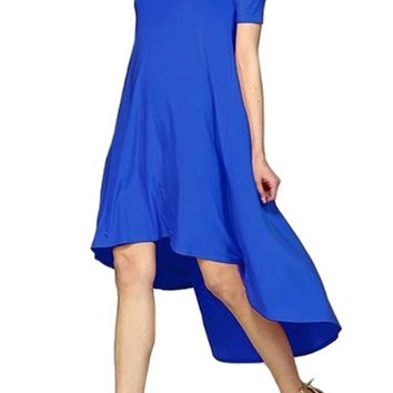 Venezian Off-Shoulder High Low Dress