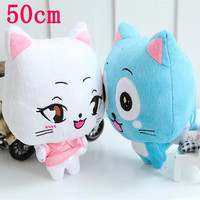 Cute Big Size 50 cm  20 inch.   Fairy Tail Happy & Charles Plush Toy Stuffed Plush Toys Doll Figure Toy for Kids.
