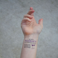 21st Birthday Party Temporary Tattoos, If lost, buy me a drink Tattoo, Pack of 15