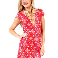 Wave After Wave Pink And Red Dress | Monday Dress Boutique