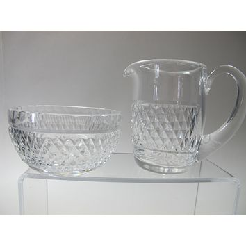 Signed Waterford Cut Glass sugar and creamer