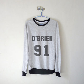 O' Brien 91 Long Sleeve Tshirt / Dylan O'Brien Shirt / Teen Wolf Sweatshirt / Plus Size