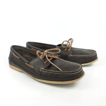 Boat Shoes Men's Vintage 1980s Brown Men's size