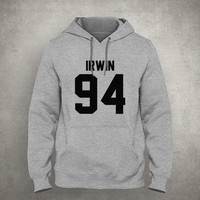 Irwin 94 - For fangirl & fanboy - Gray/White Unisex Hoodie - HOODIE-074